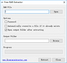 Free RAR Extractor - Freeware to decompress RAR files